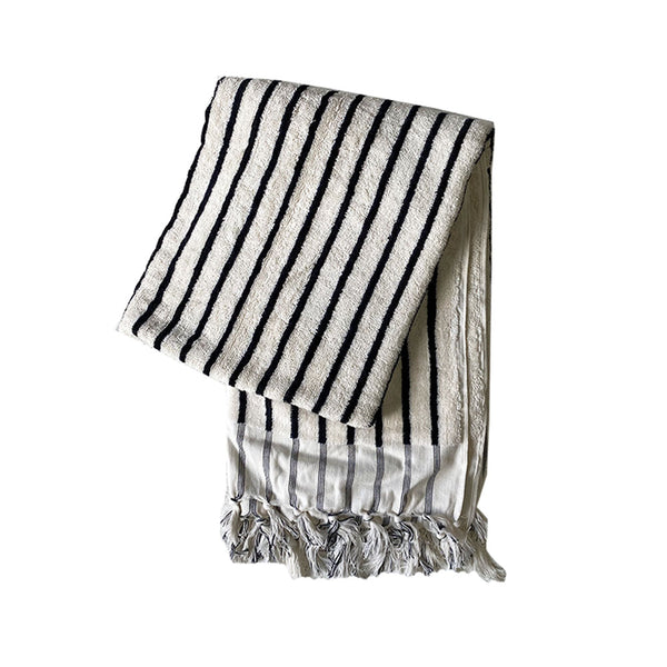 havva stripe towel natural