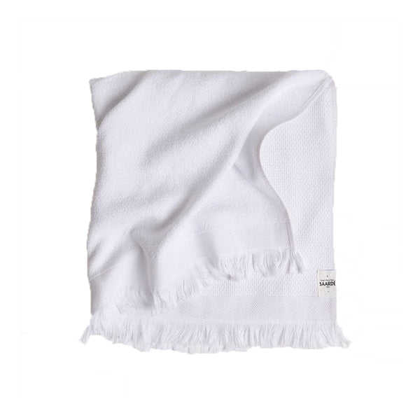 honeycomb bath towel white