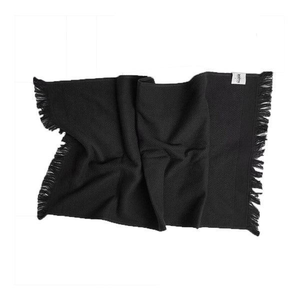 honeycomb hand towel black