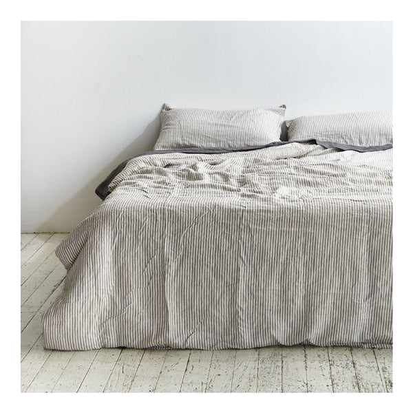 linen duvet cover queen stripe