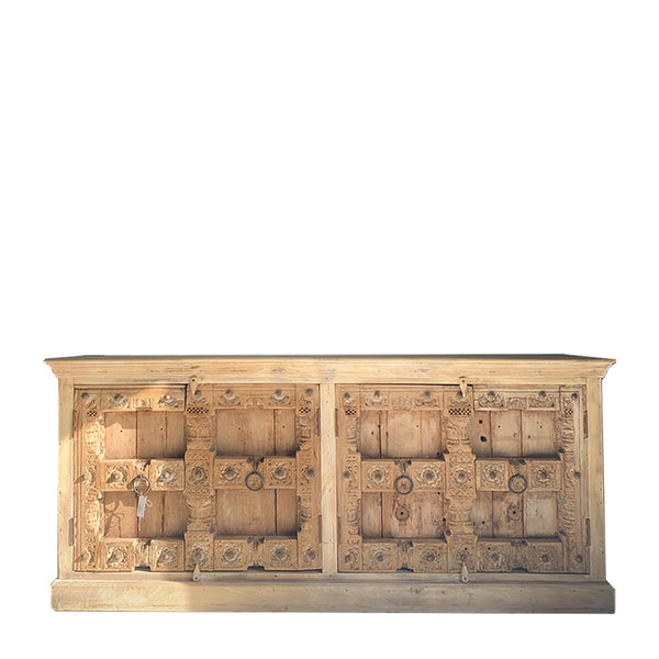 antique indian door buffet
