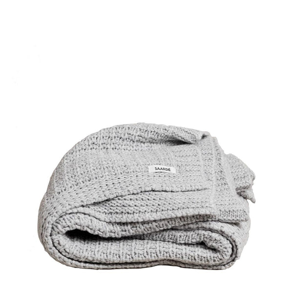 jasmin wool throw - pale grey