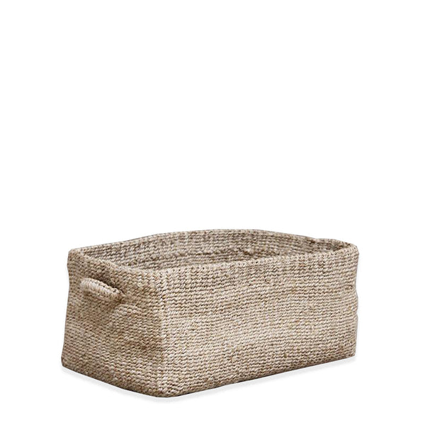 jute basket natural rectangle