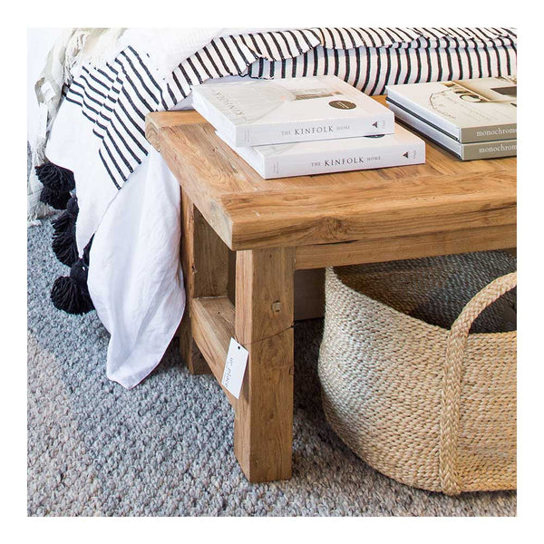 jute basket natural round