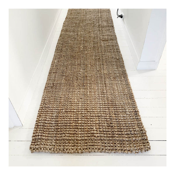 jute hall runner natural 3m