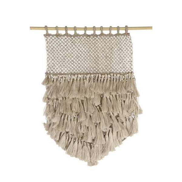 tassel jute wall hanging - small