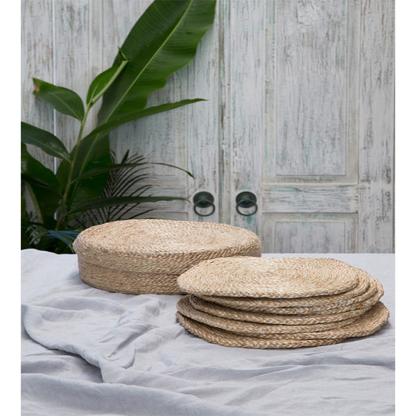 jute natural placemats x 8 - with jute box