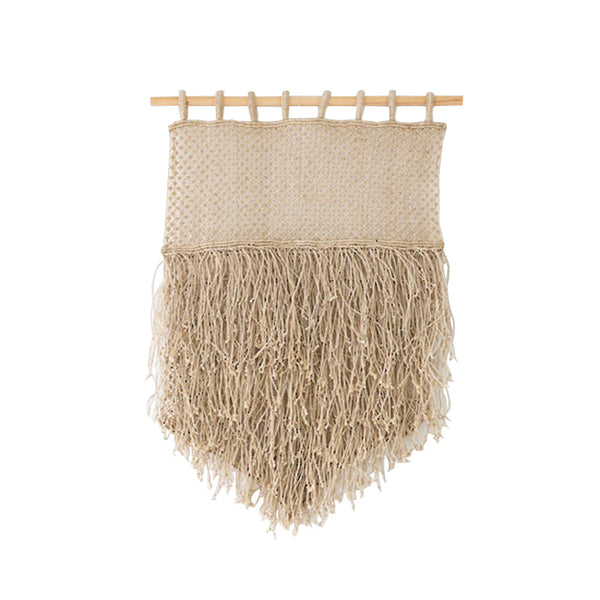 jute wall hanging - natural fringe