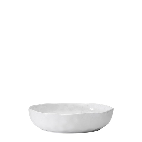 speckle dinner bowl white
