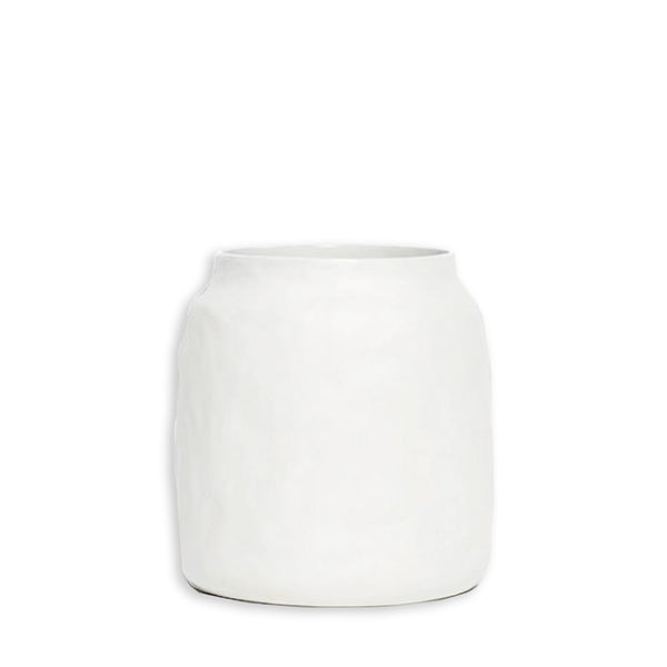 kitchen pot white large