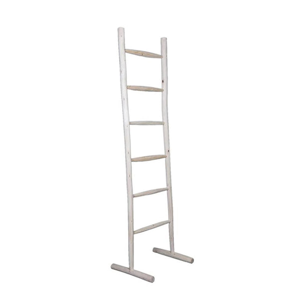 wood ladder stand natural