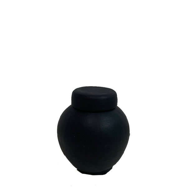 la vie vase large black