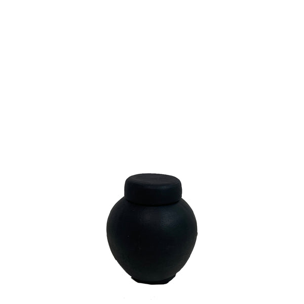 la vie vase small black