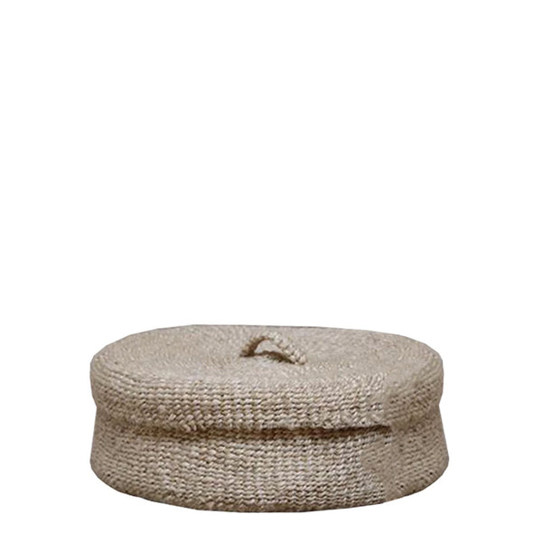 sona round lidded basket large