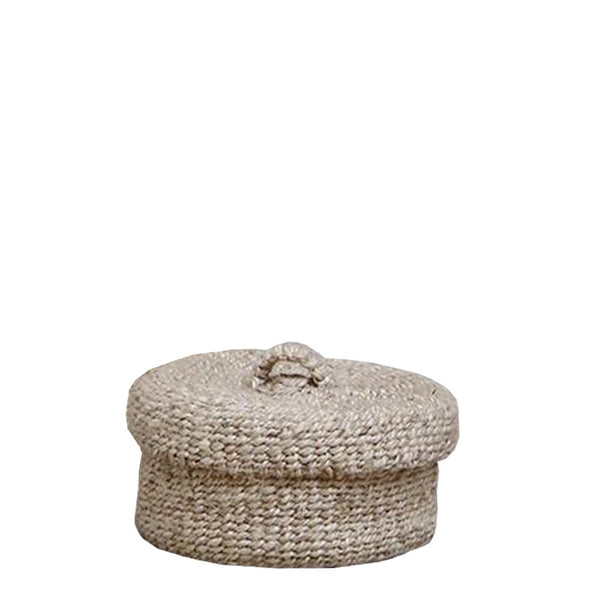 sona round lidded basket small