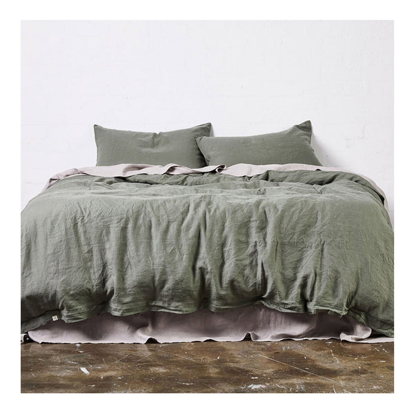 linen duvet cover queen khaki
