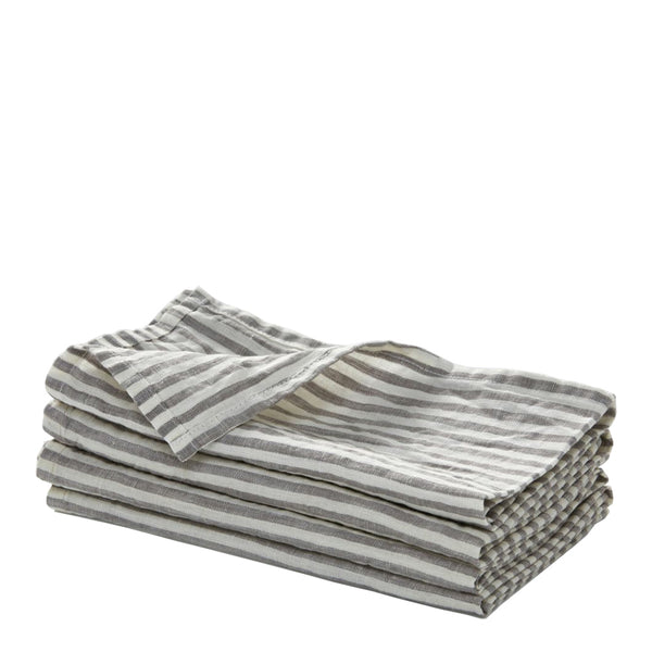 100% linen napkin set - stripe