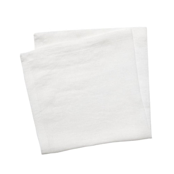 linen napkin set white moss - set of 4