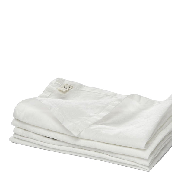 linen napkin set white