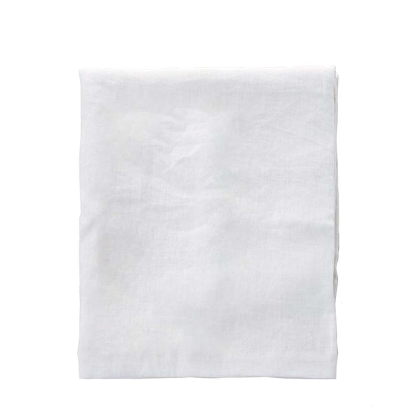 linen tablecloth white moss - medium