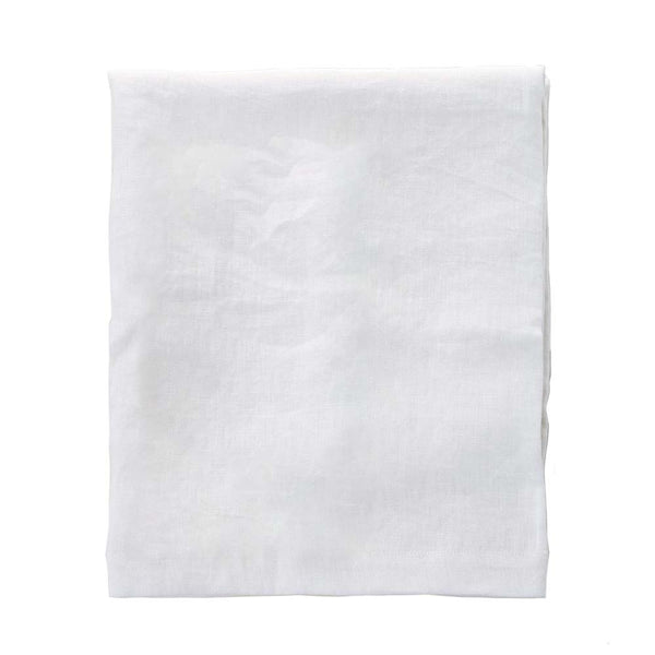 linen tablecloth white moss - large