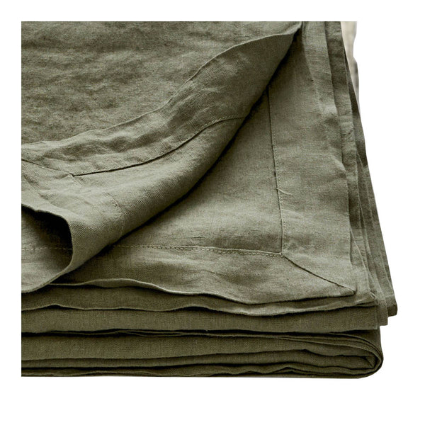 linen tablecloth khaki medium