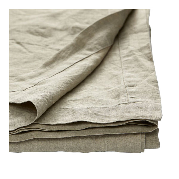 100% linen tablecloth - natural large