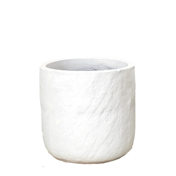 lotte textured pot white medium