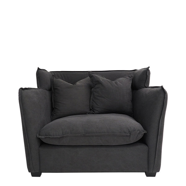 sunday loveseat charcoal