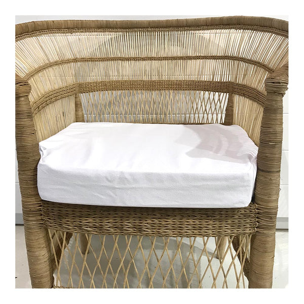 malawi seat cushion - white