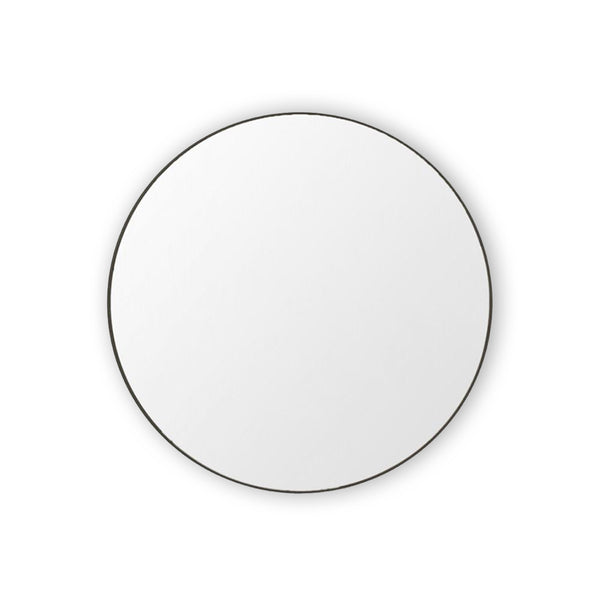 round mirror small - black