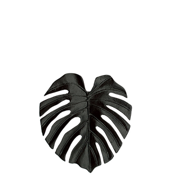 monstera dish - black
