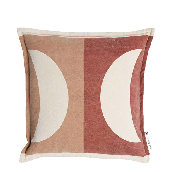 moonrise cushion - plum desert/clay