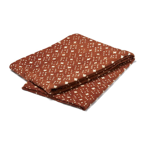 mud cloth throw rust