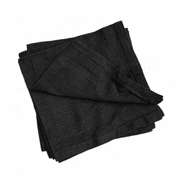 washed black napkin set