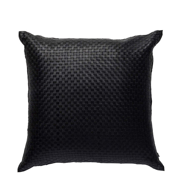 nappa black cushion square