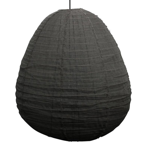 linen pendant large black