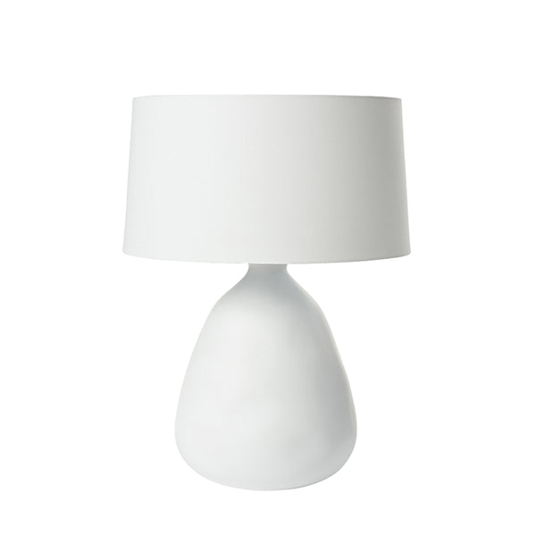 organic ceramic lamp white