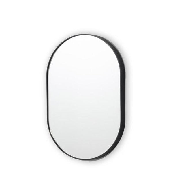 oval mirror black