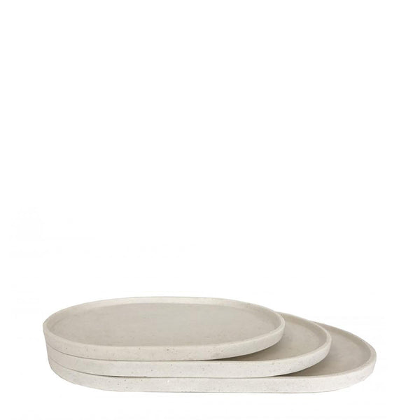 oval platter medium chalk