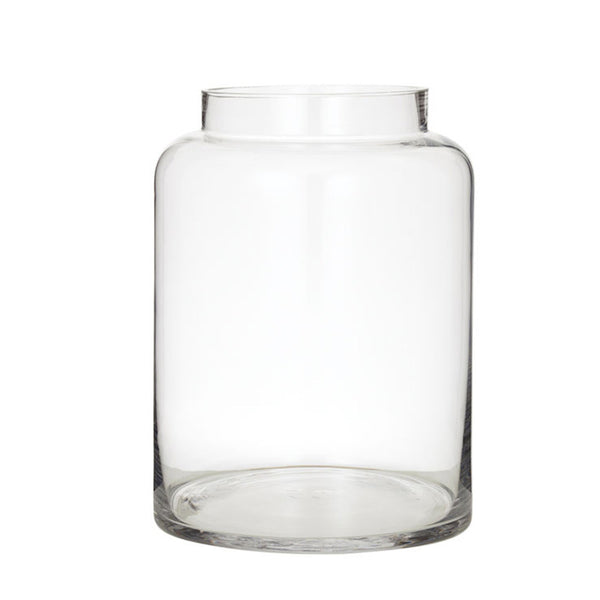 pail glass vase - medium