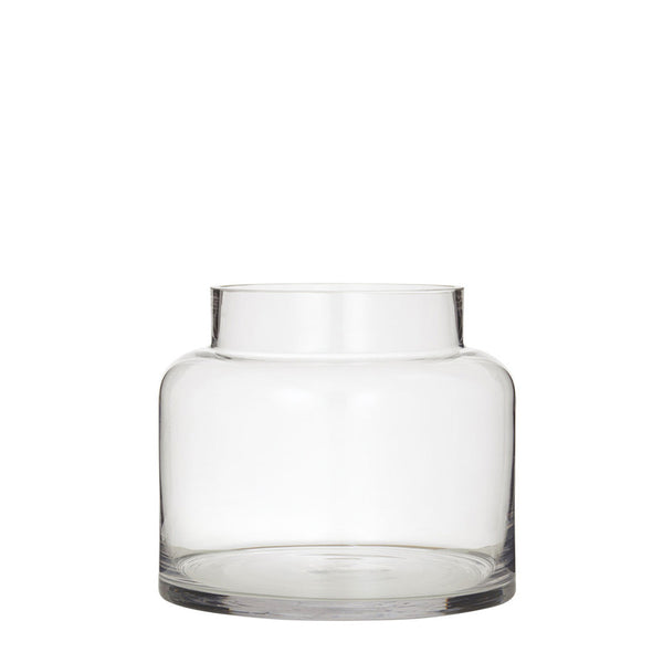 pail glass vase - small