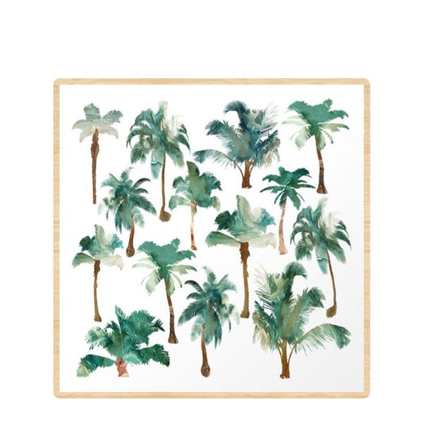 palm trees framed