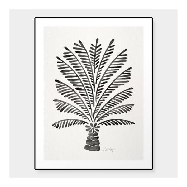 palm block print framed