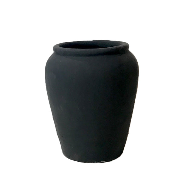 plain pot black small