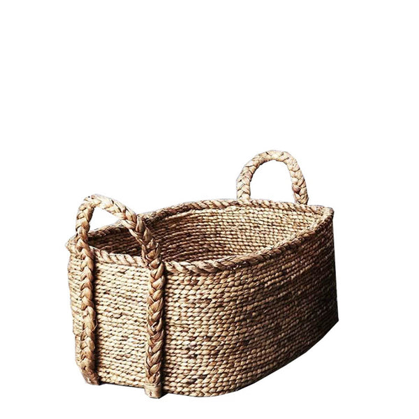 cane rectangle plaited basket large