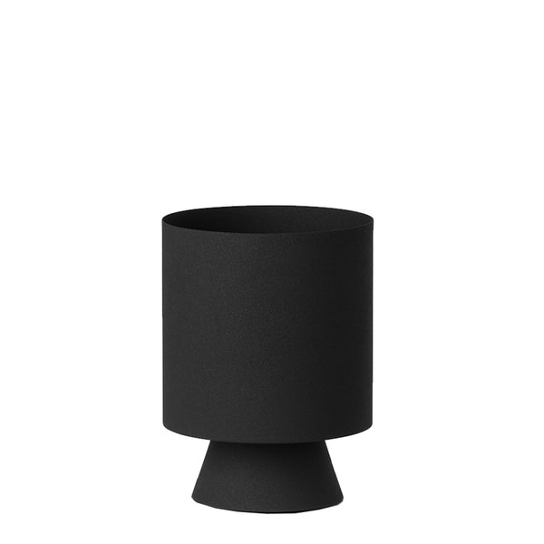 mona planter small black