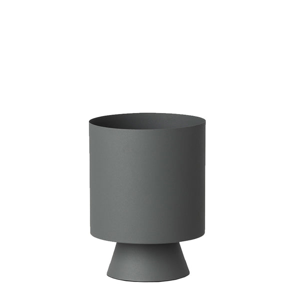 mona planter small grey