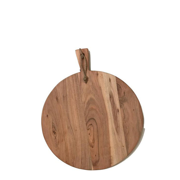 wood serving board round medium