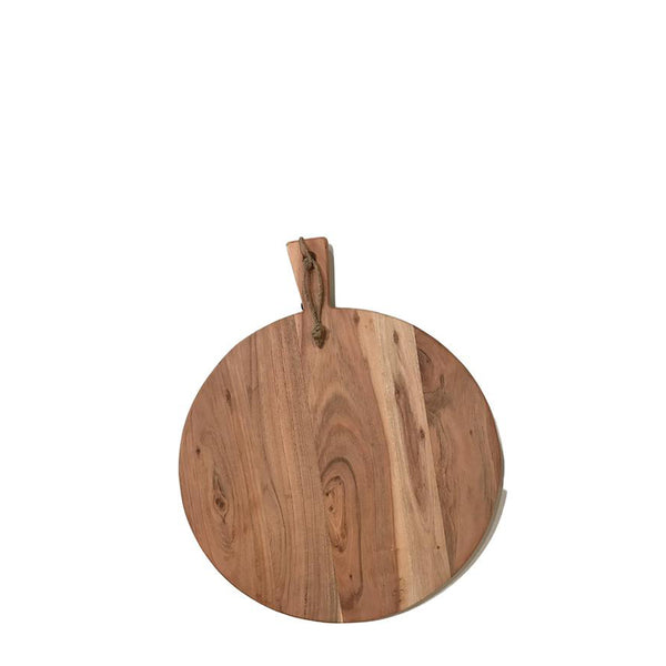 wood serving board round small